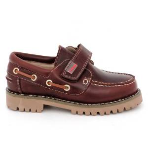 Zapatos de niño Yowas marrón lado