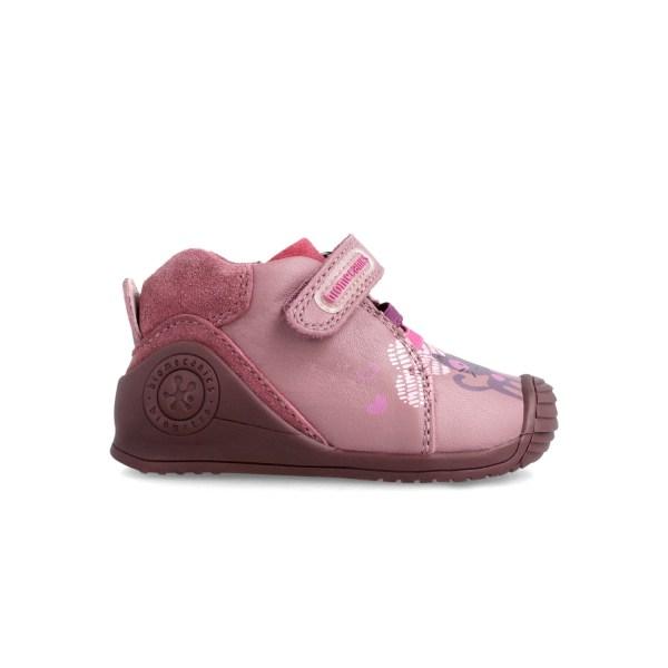 Botines piel Biomecanics bebé niña rosa 211117 lado