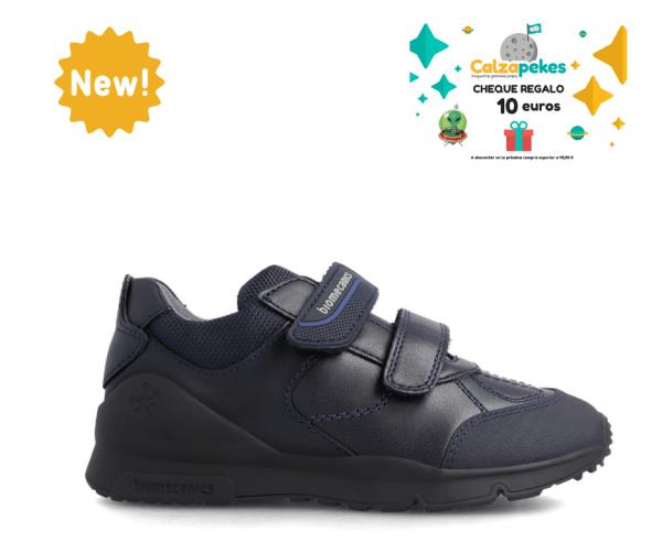 Zapato colegial piel Biomecanics niño marino 211103