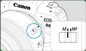 Canon: Bedienungsanleitung: EOS R6: Anbringen/Abnehmen von