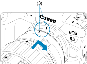 Canon : Product Manual : EOS R5 : Attaching/Detaching EF