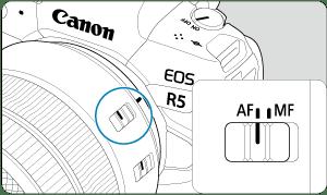 Canon : Manual del producto : EOS R5 : Montaje y