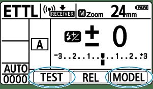 Canon : Product Manual : Speedlite EL-1 : Test Flash