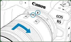 キヤノン:製品マニュアル|EOS R5|RFレンズを取り付ける/取り外す