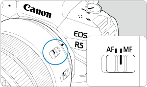 Canon : Product Manual : EOS R5 : Manual Focus