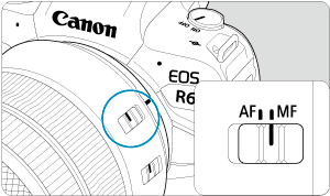 Canon : Product Manual : EOS R6 : Manual Focus
