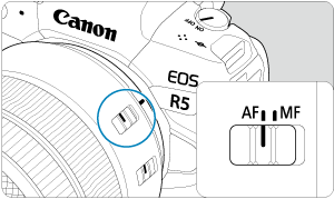 Canon : Product Manual : EOS R5 : Attaching/Detaching RF