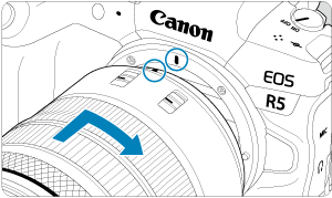 Canon : Product Manual : EOS R5 : Attaching/Detaching RF