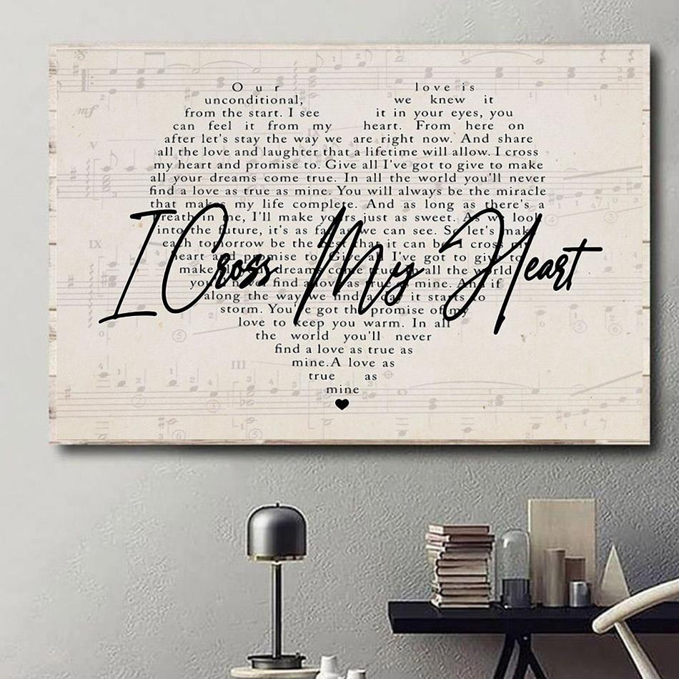 heart lyrics poster canvas george strait