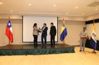 Premio Juan Torregrosa Esplugas, entregado a Aldo Mardones Alarcón, administrador Municipal de Concepción