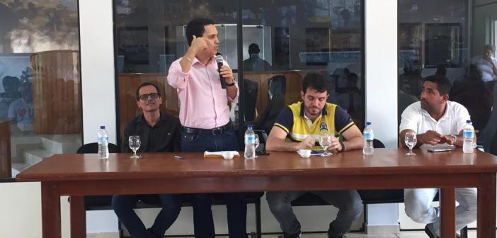 Os Deputados Federal Cássio Andrade e Estadual Fábio Figueiras em Rondon do Pará