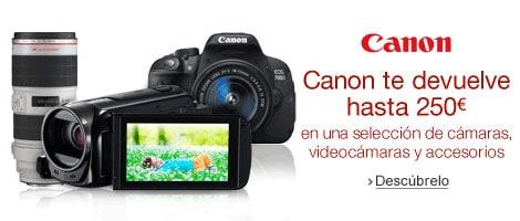Promoción: Canon te devuelve hasta 250 euros por la compra de cámaras y accesorios