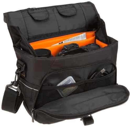 Una bolsa para la cámara y los objetivos