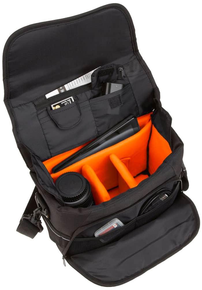 AmazonBasics - Bolsa bandolera para cámaras DSLR