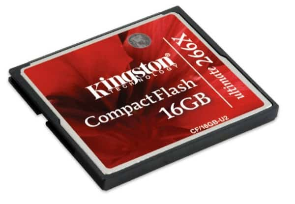 Kingston CF/16GB-U2 - Tarjeta de memoria CompactFlash Ultimate de 16 GB, 266x