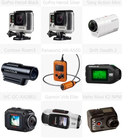 Las mejores cámaras deportivas y de acción de 2014: comparativa de características
