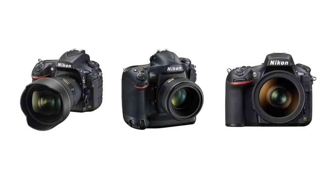 Cámaras Nikon DSLR para profesionales (2015)