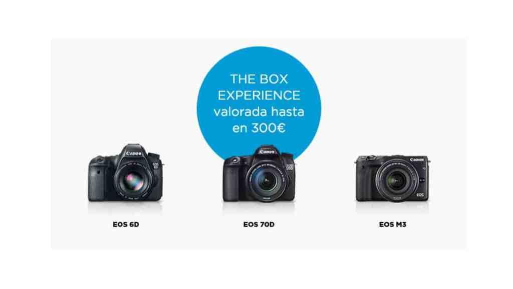 Nueva promoción de Canon - The Box Experience - con hasta 300 euros en regalos