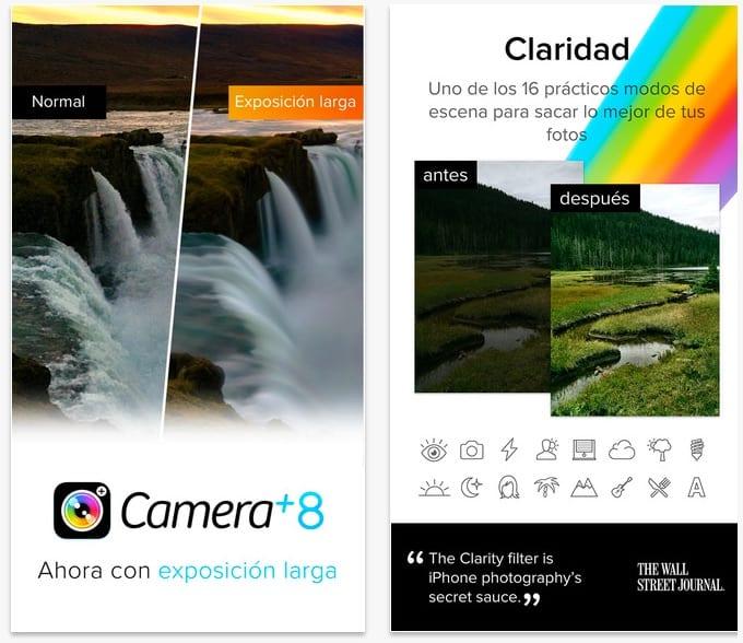 Camara+ 8 para iPhone se actualiza: Obturador lento, ISO ultra-bajas, extensiónes y mucho más
