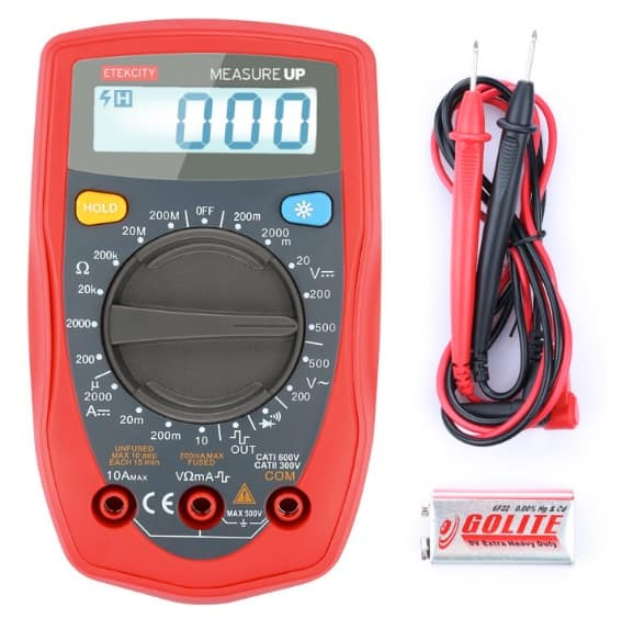 EtekCity Measure Up - Multímetro digital con retroiluminación LCD
