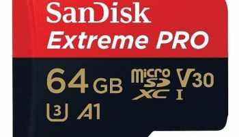 Tarjeta de memoria SanDisk Extreme PRO 64 GB microSDXC UHS-I + adaptador SD, velocidad de lectura hasta 100 MB/s, Clase 10, U3, V30 y A1