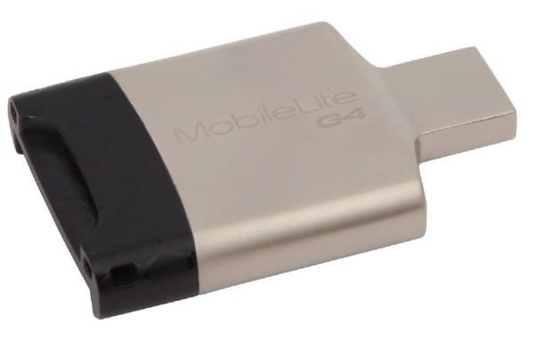 Kingston MobileLite G4 - Lector de tarjetas de memoria (USB 3.0, SDHC, microSD)