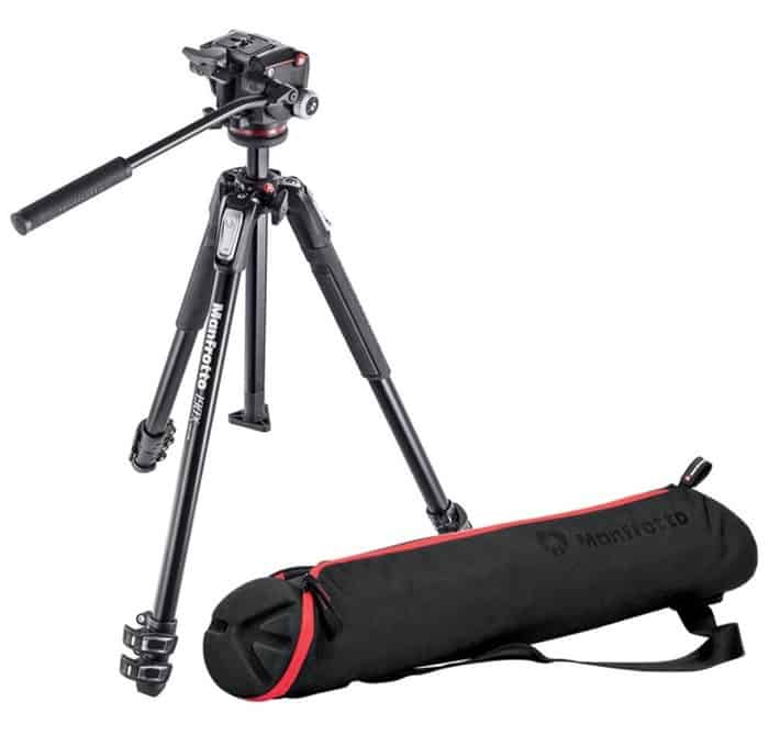 Manfrotto MK190X3-BAG - Trípode 190X con rótula 2-way y bolsa