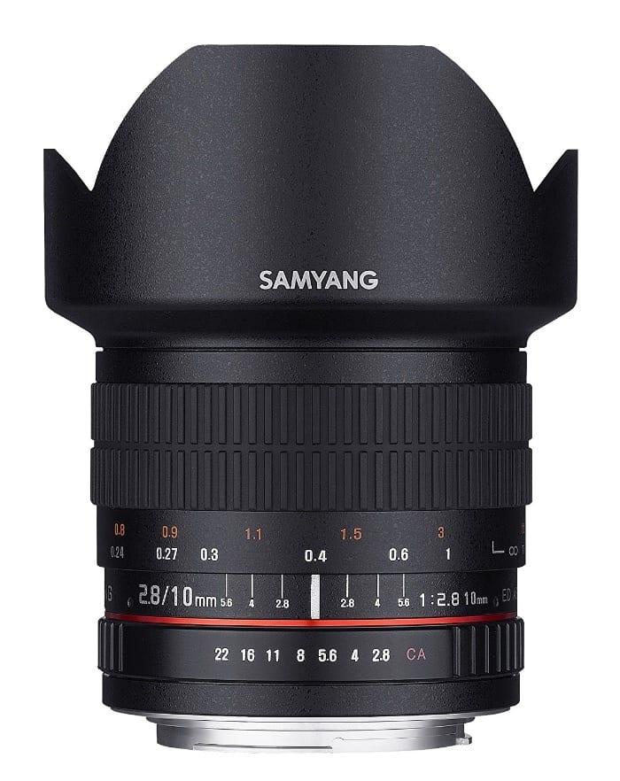 Samyang 10mm f/2.8 ED AS NCS CS - Lente Prime gran angular para Nikon
