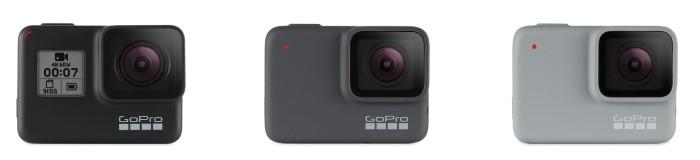 GoPro HERO7 Black, Silver, White