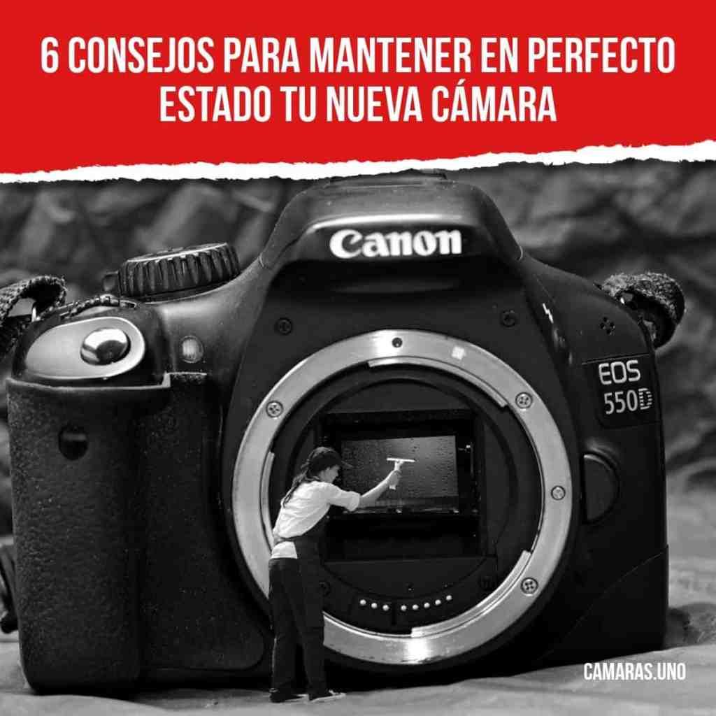 ¿Qué tipo de mantenimiento hay que realizar en una cámara de fotos?
