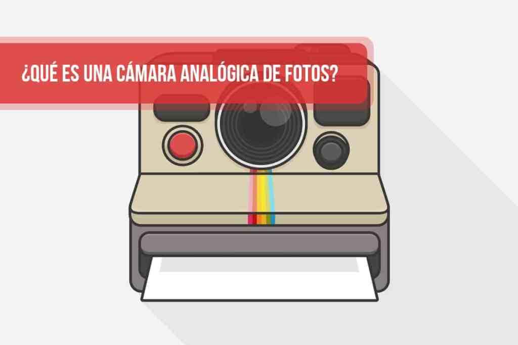 ¿Qué es una cámara analógica de fotos?