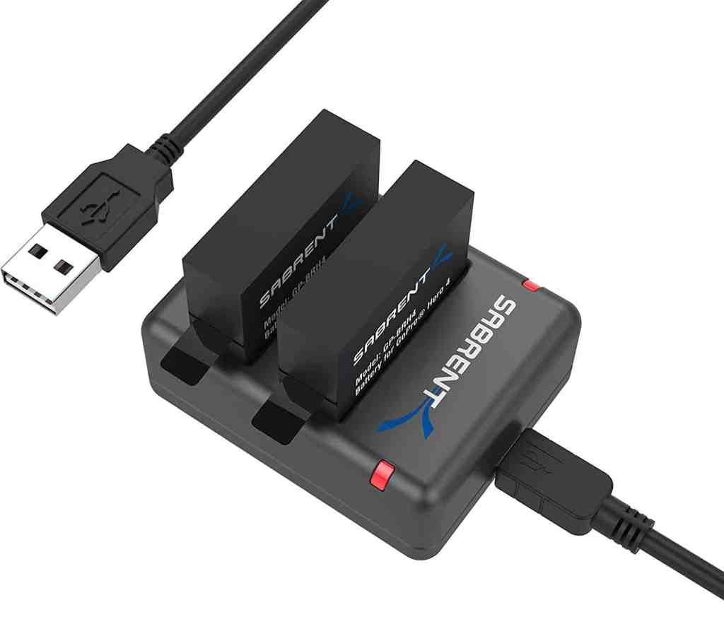 Paquete de baterías con cargador para GoPro HERO4 de Sabrent