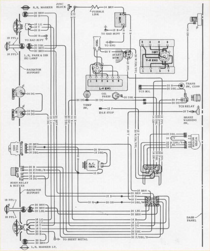 [WRG-5461] 1971 Chevelle Fuse Panel Wiring Diagram