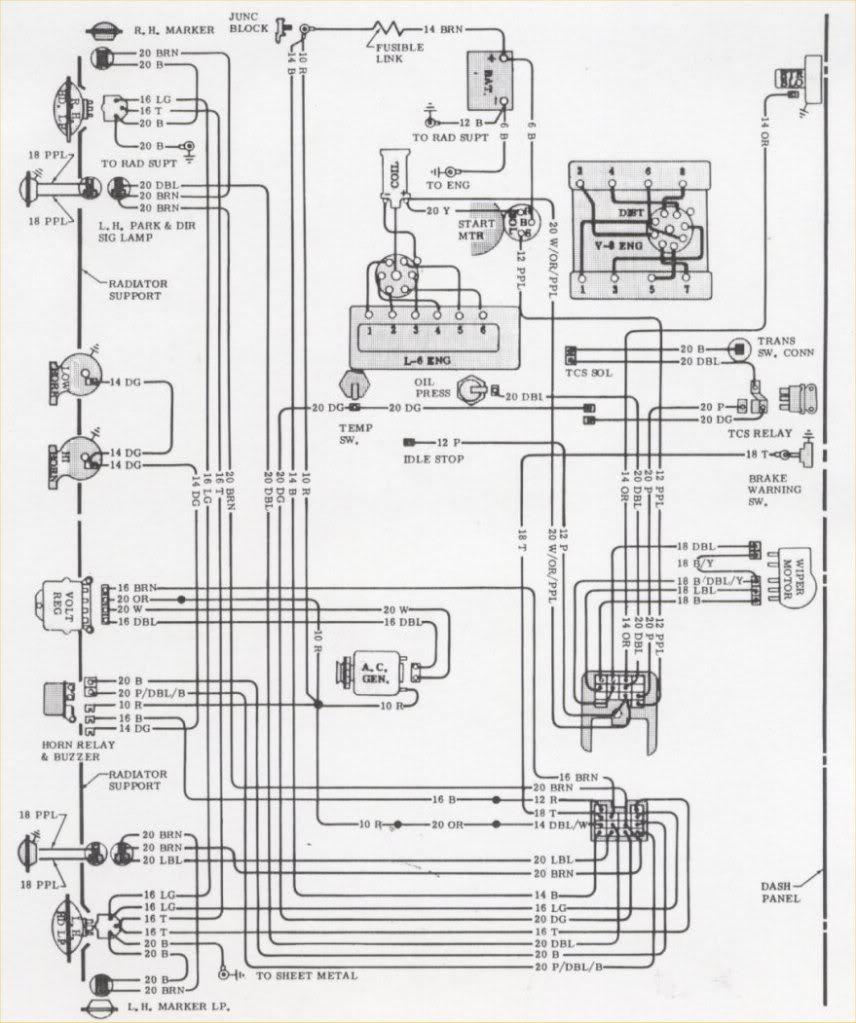 1968 chevy camaro under dash wiring diagram