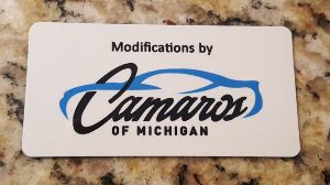 Camaros of Michigan Official Engine Dash Plaque
