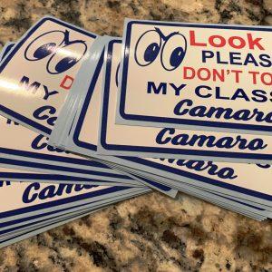 Camaros of Michigan Don't Touch My Camaro Sticker