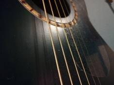 A photo of a guitar