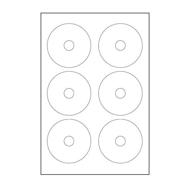 ACE Compatible (615 Series) Inkjet Glossy Mini CD Labels
