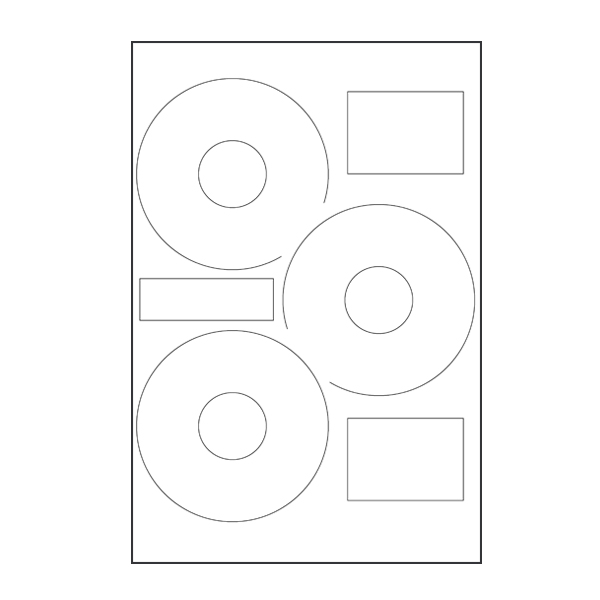Neato Compatible CD/DVD Labels 3 up