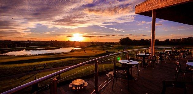sunset over castleknock golf course