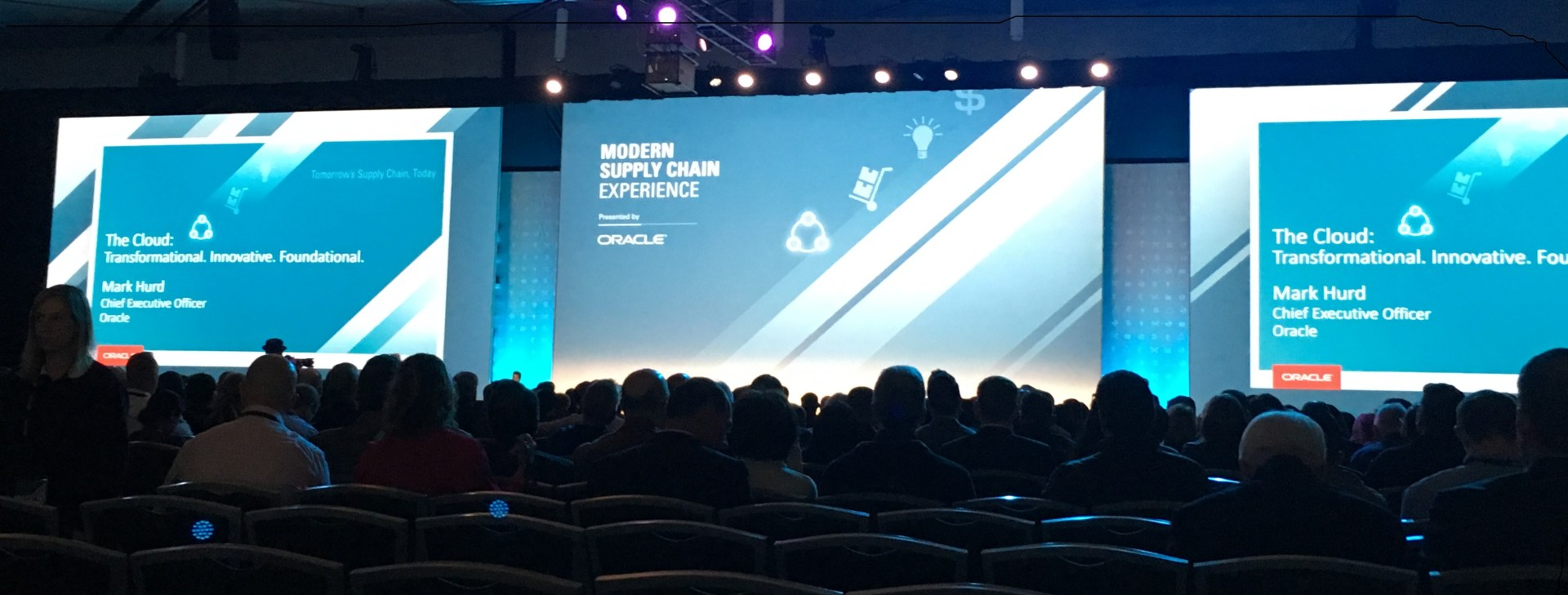 Oracle's CEO, Mark Hurd, at Modern Supply Chain conference