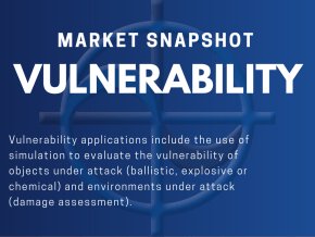 Vulnerability applications include the use of simulation to evaluate the vulnerability of objects under attack (ballistic, explosive or chemical) and environments under attack (damage assessment).