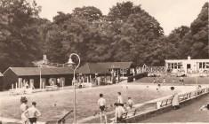 Camberley Blue Pool postcard