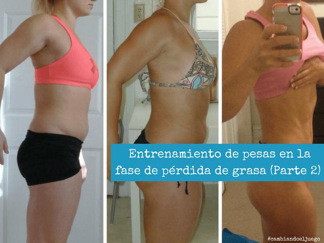 Entrenamiento de pesas en la fase de perdida de grasa 2