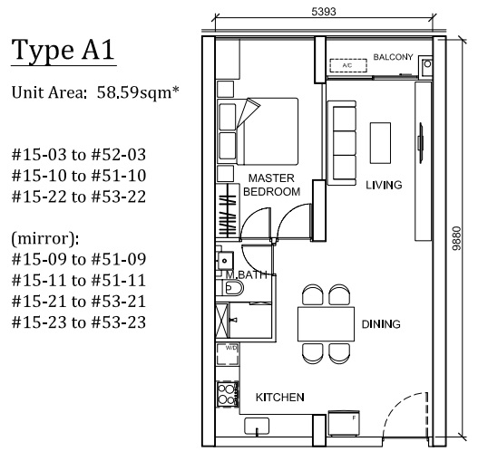 Type A1 1 Bed
