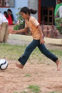 Barefoot Soccer Girl