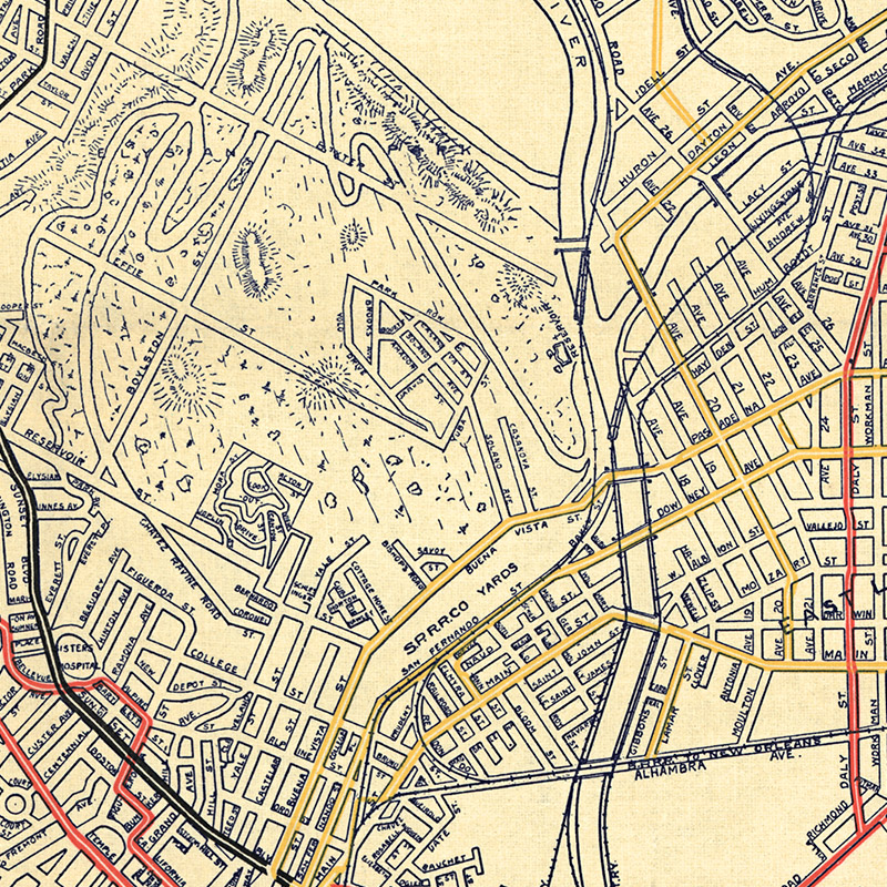 Railway Systems Of Los Angeles Transit Maps Store - Los angeles map