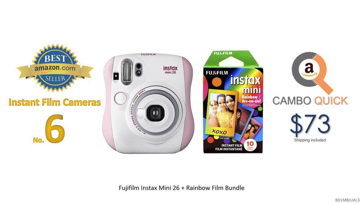 Fujifilm Instax Mini 26 and Rainbow Film Bundle.png