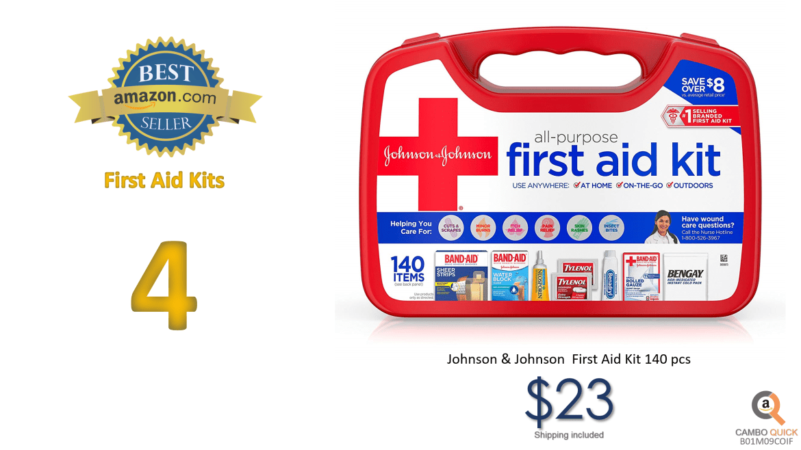 Johnson & Johnson All-Purpose Portable Emergency First Aid Kit for Home & Travel, 140 pc.png