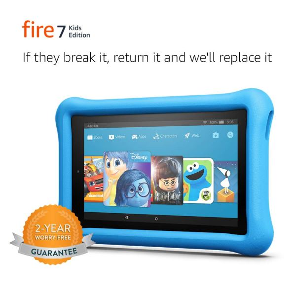 Fire 7 Kids Edition Tablet, 7″ Display, Kid-Proof Case